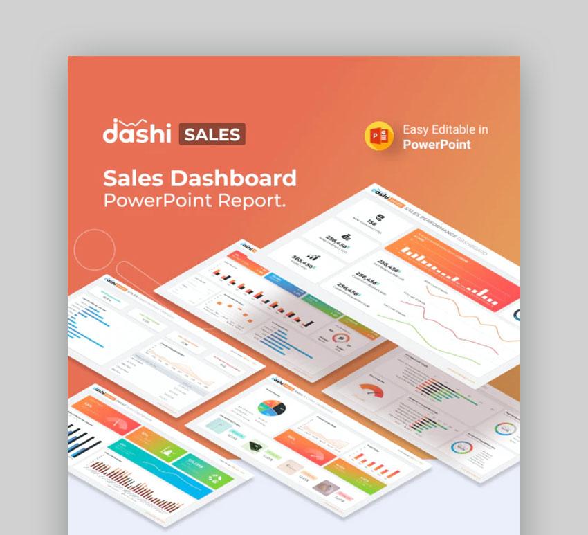Dashi Sales Report PPT Presentation