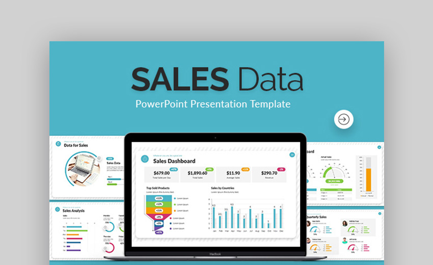 Sales Data Sales PPT Template