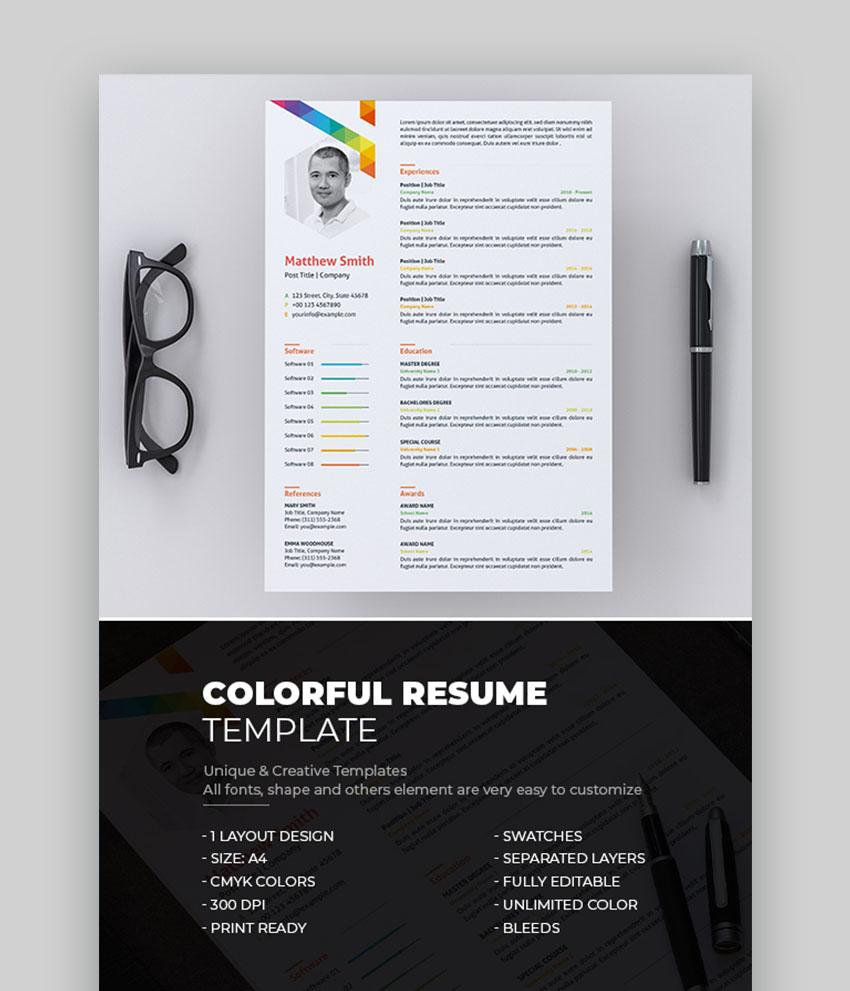 colorful interesting resume samples
