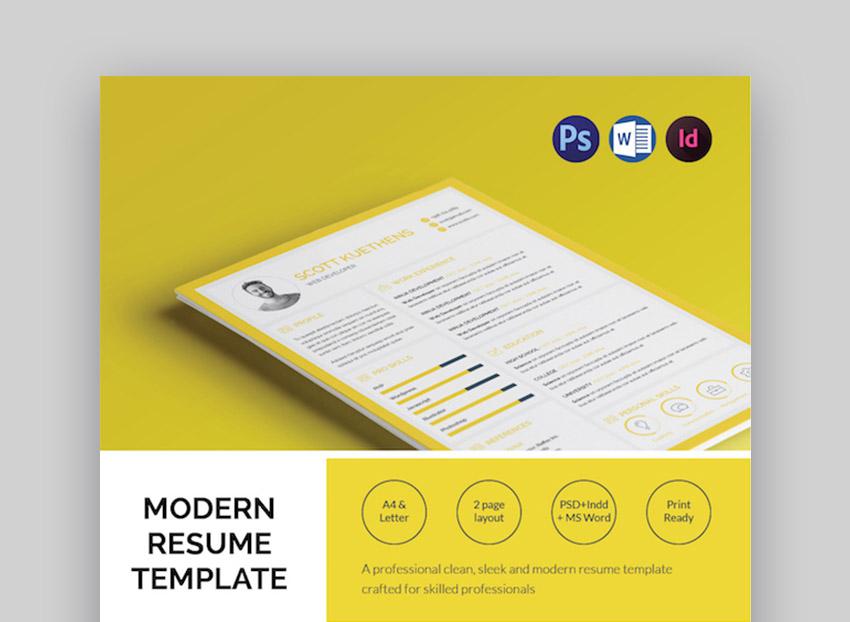 unique clean resume modern design