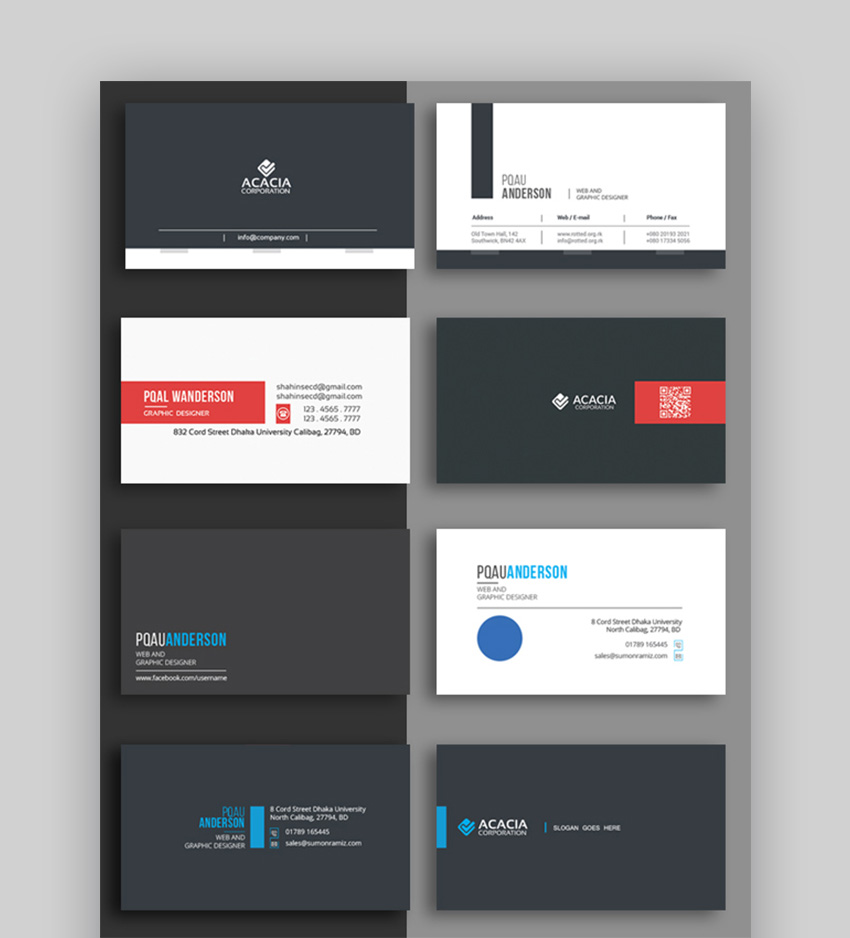 InDesign Business Card Template Bundle