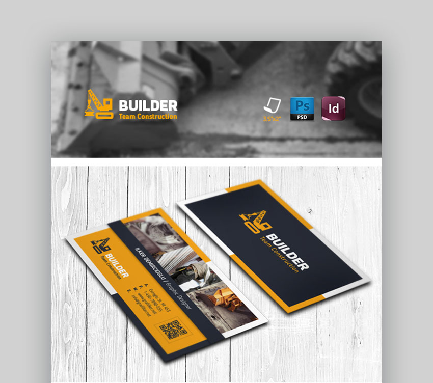 Construction Business Card Templates