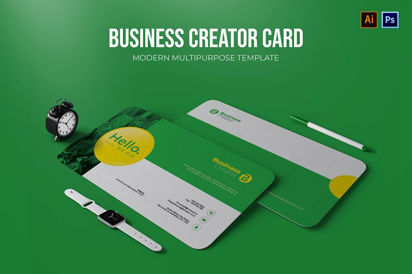 Business Creator Creative Card Template