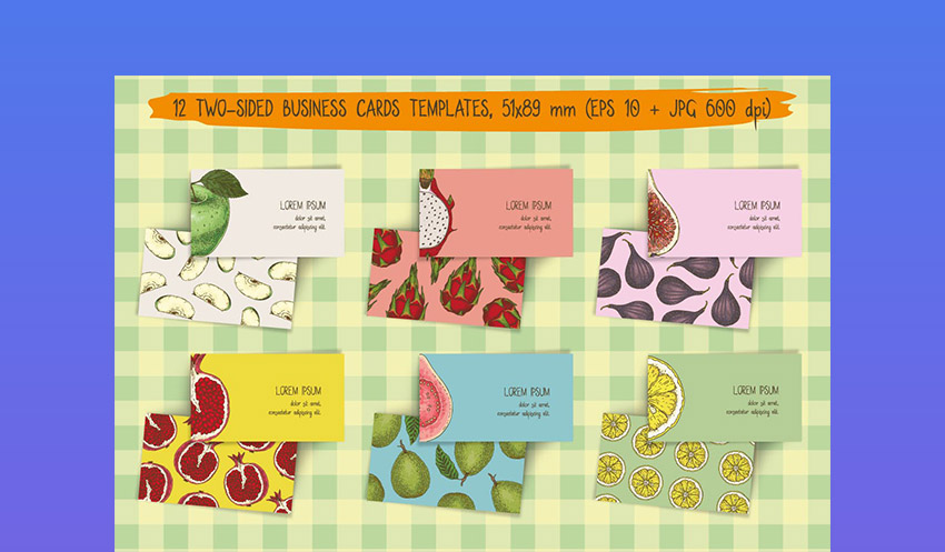 Fruit Colorful Business Cards