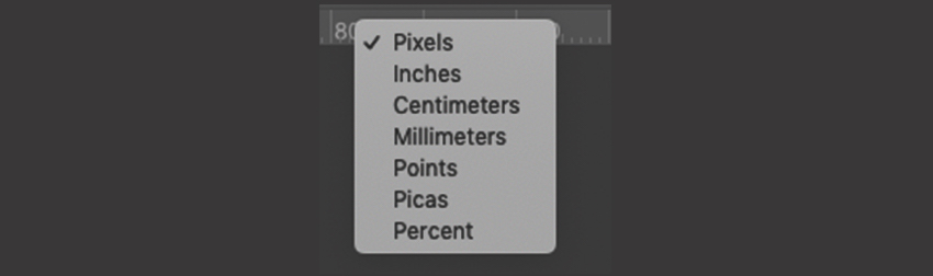 How to select Ruler Measurements in Photoshop
