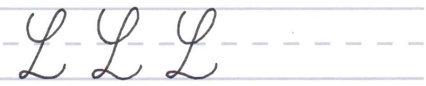cursive calligraphy - capital l multiples