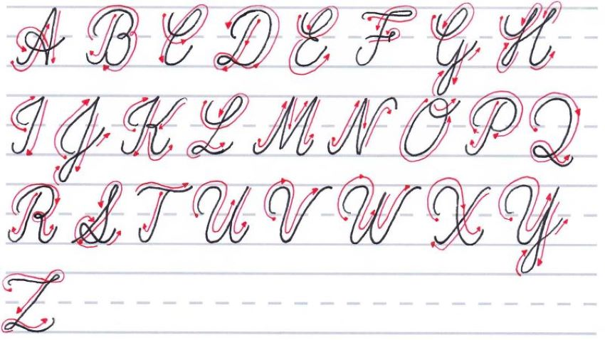 cursive calligraphy - uppercase letters