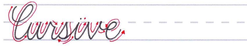 """How to write """"Cursive"""""""