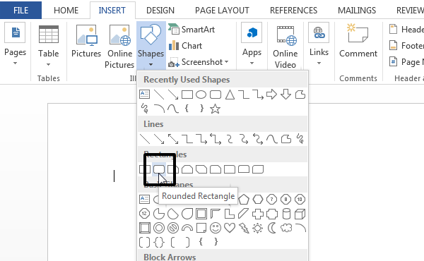 Adding new Rounded Rectangle shape