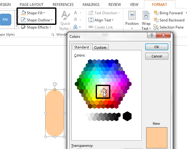 Setting a new fill color for the rounded rectangle