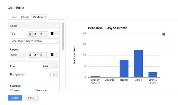 customize chart