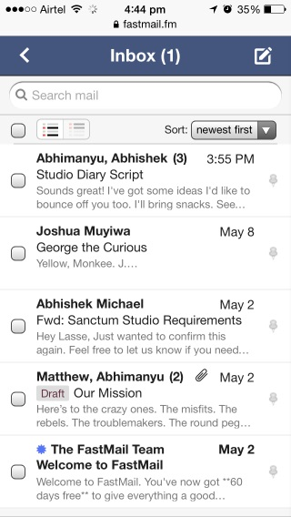 fastmail mobile