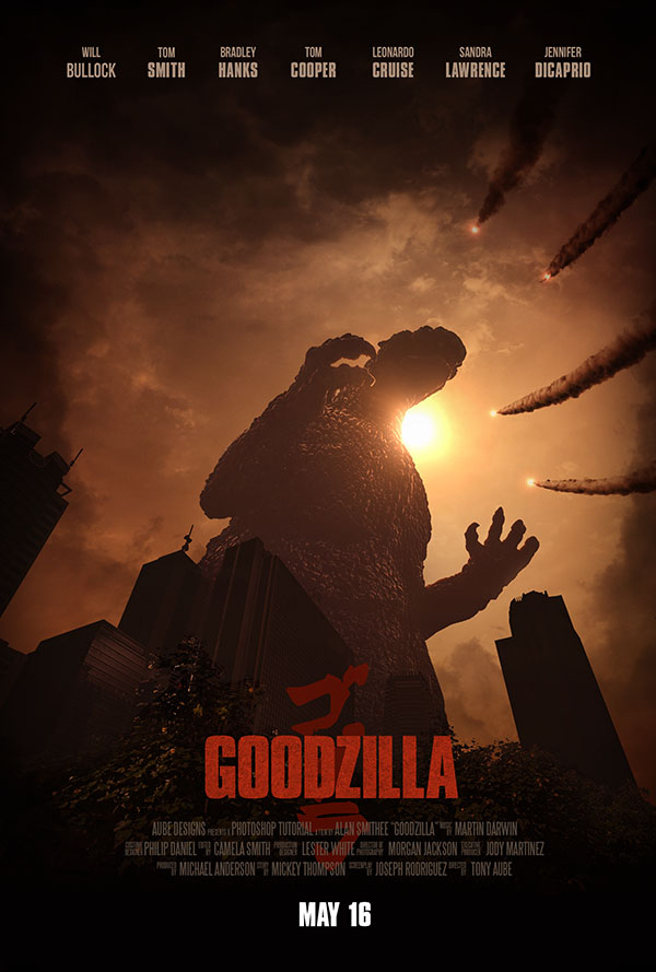 create an epic godzillainspired movie poster in adobe