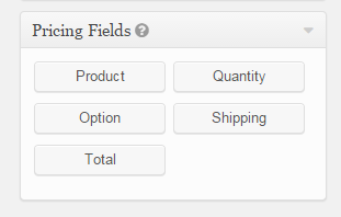 Gravity Forms Pricing Fields