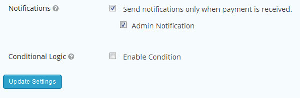 PayPal Admin Notification for Gravity Forms