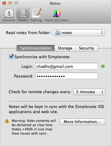 nvALT simplenote sync settings