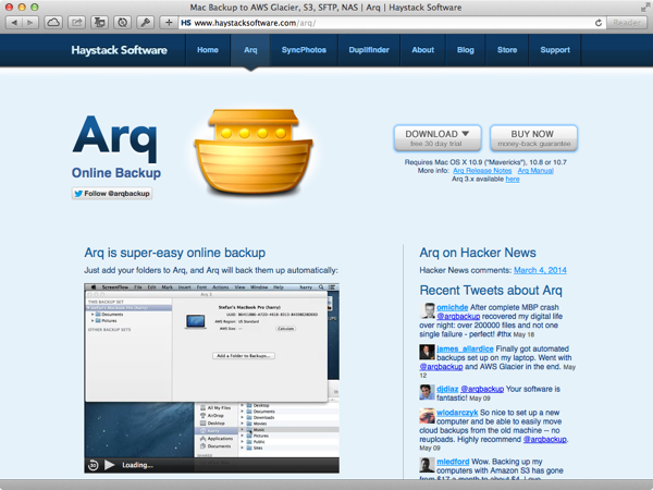 Arq Download Page