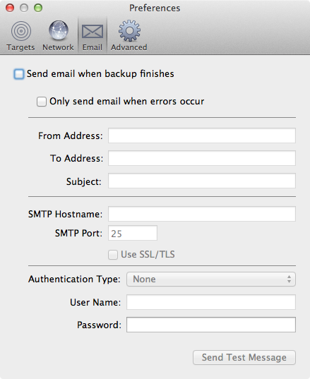 Arq Email Preferences