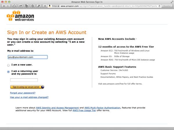Amazon Web Services Account Setup