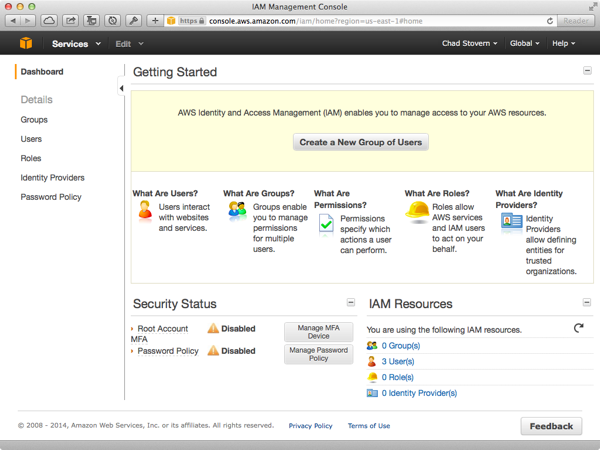 Amazon Web Services IAM Groups
