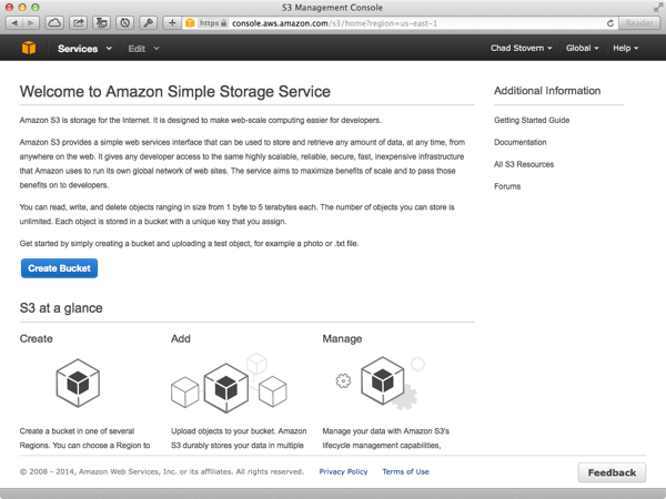 Amazon Web Services S3 Home