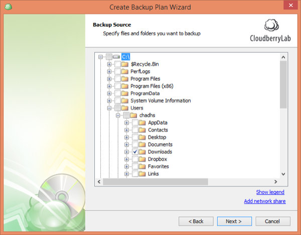 CloudBerry Backup Wizard Source
