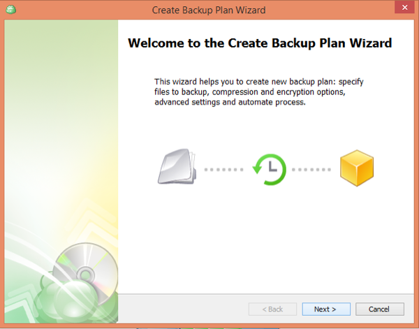 CloudBerry Backup Wizard