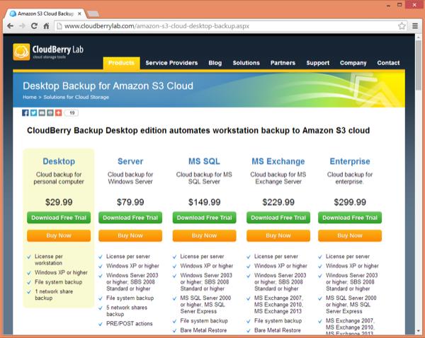 CloudBerry Desktop Download