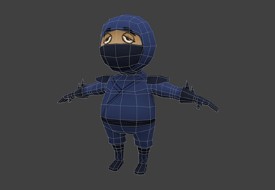 Preview for Creating A Low Poly Ninja Game Character Using Blender: Part 2