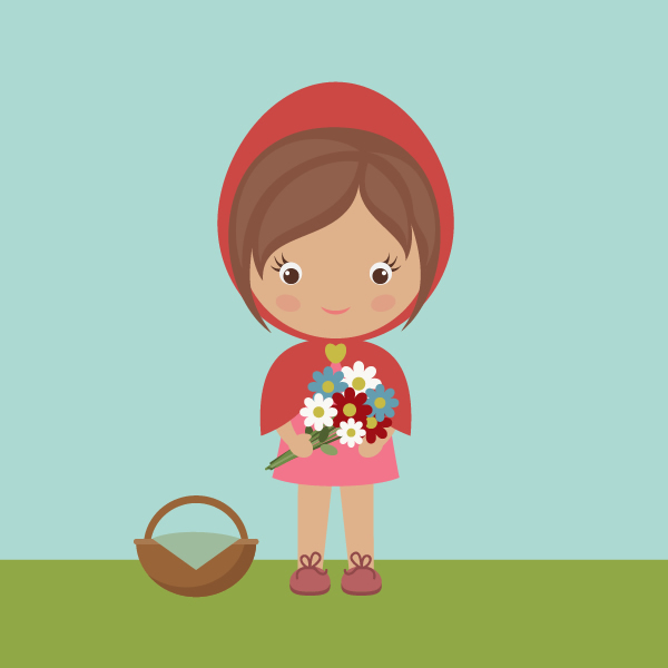 Character Design For Animation In Illustrator : How to draw little red riding hood with basic shapes in