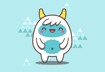 Creating A Simple Kawaii Yeti With Basic Shapes In Adobe Illustrator