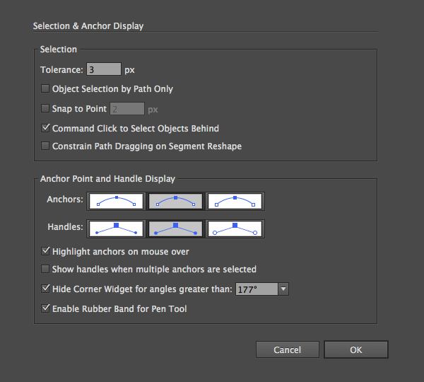 Selection  Anchor Display