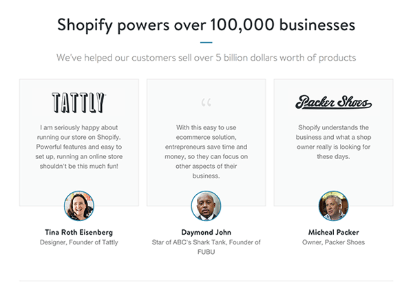 Shopify Chose To Use A Carousel Instead Of Vertical Arrangement The Elements But Some Informed Guesses Could Be Made For Example Might