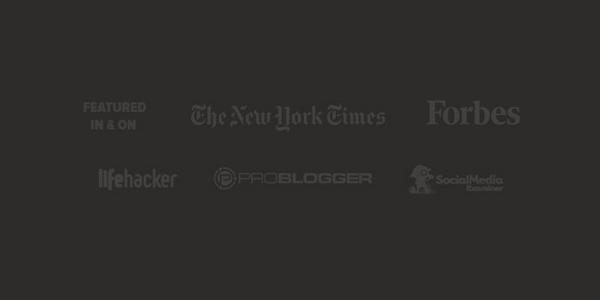 logotipos en el sitio web de Pat Flynn