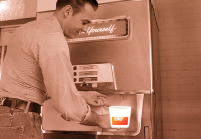 Bourbon coke sepia machine