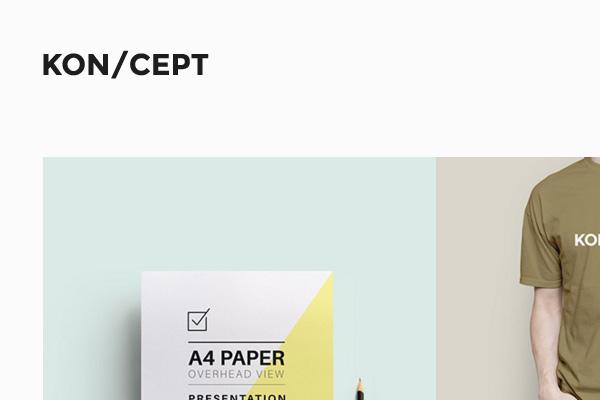 KONCEPT - A Portfolio Theme for Creative People