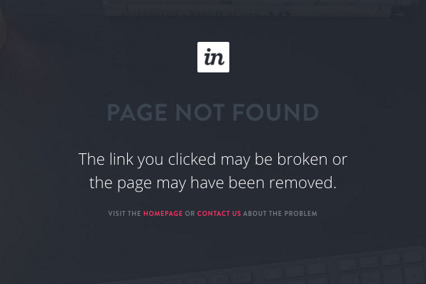 Sorry About This: 40 Examples of 404 Pages