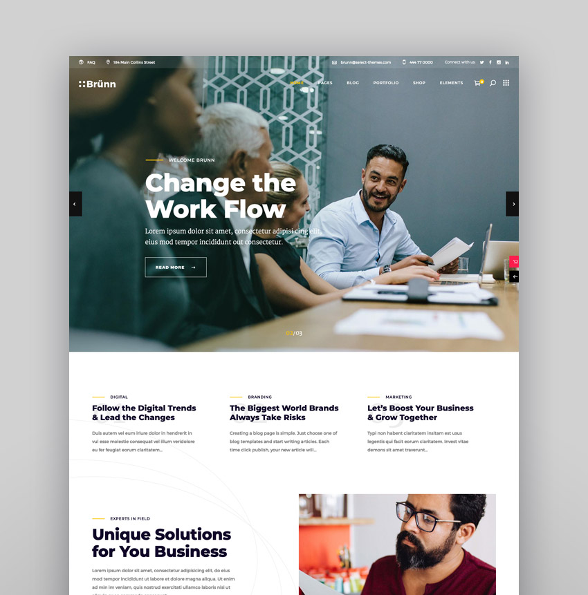 Brnn - Creative Agency Theme