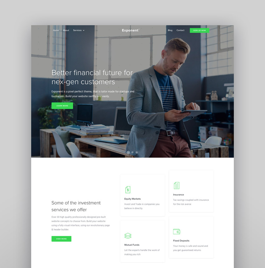 Exponent - Modern Multi-Purpose Business WordPress Theme