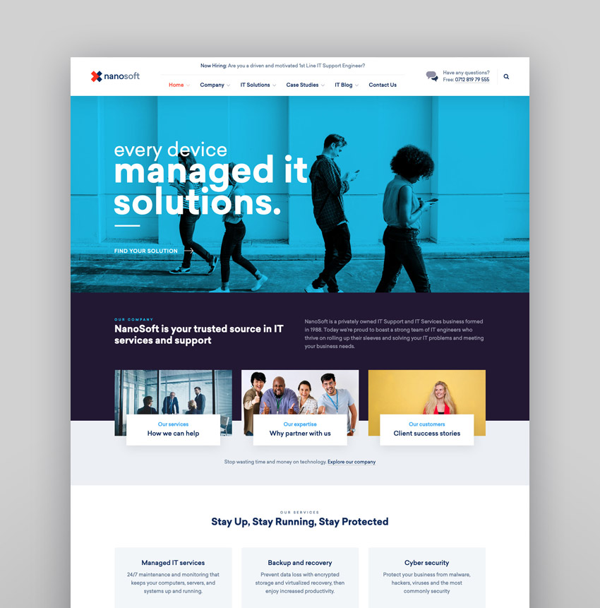 Nanosoft - WP Theme
