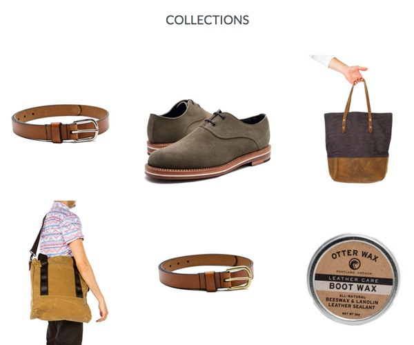 Helm Boots make use of collection images to guide customers into different areas of their store