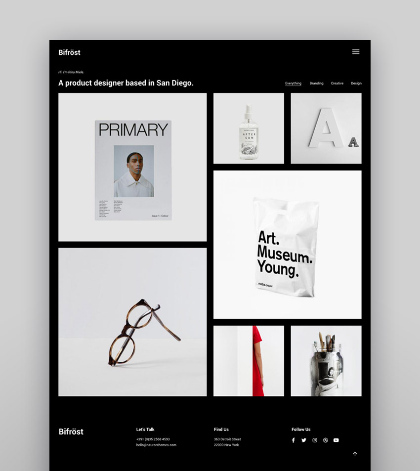 Bifrost - Simple Portfolio WordPress Theme - masonry