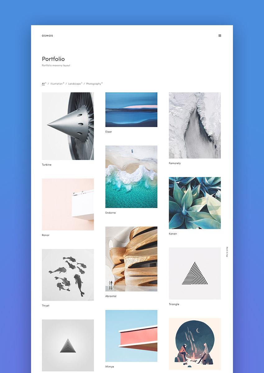 Osmos - Minimalist Portfolio WordPress Theme