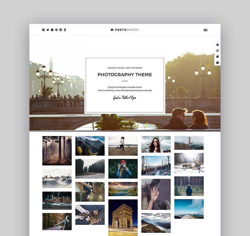 photography photography wordpress portfolio theme