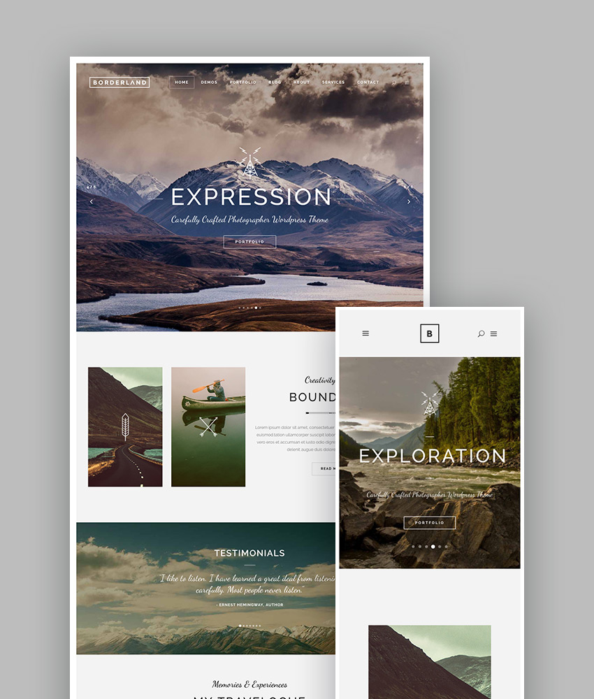 Borderland - A Daring Multi-Concept WordPress Theme