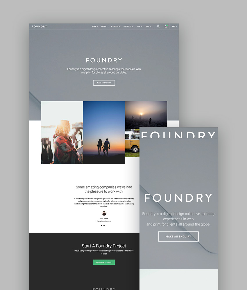 15 best wordpress portfolio themes for creatives foundry highly flexible wordpress portfolio theme maxwellsz