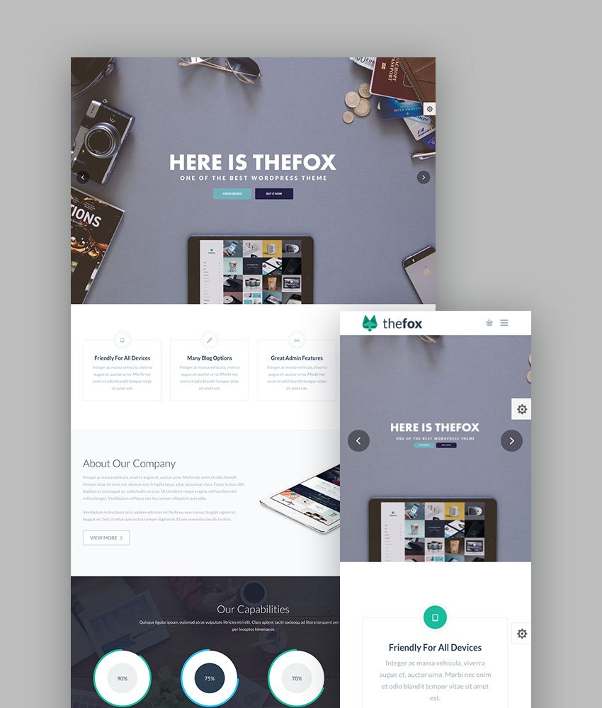 TheFox - Creative Multi-Purpose WordPress Theme