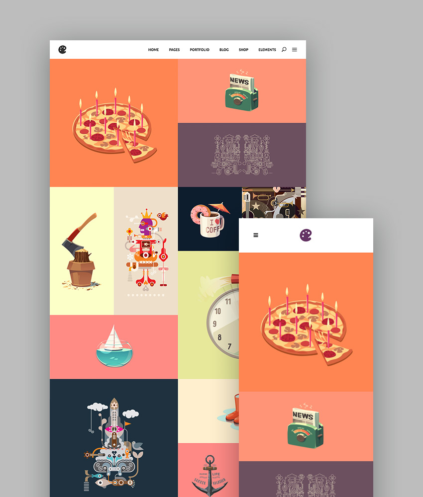 Illustrator - A Portfolio Theme for Illustrators Designers and Artists