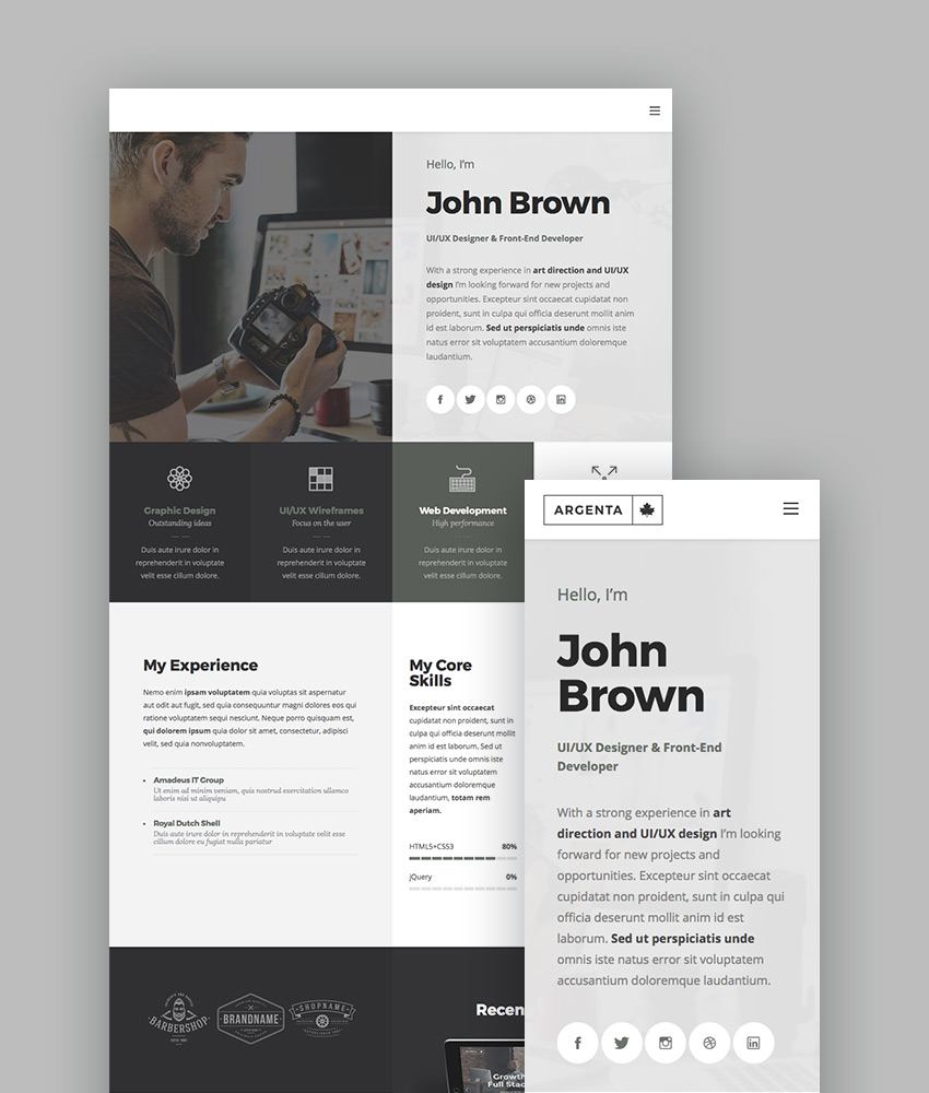 Argenta - Multipurpose WordPress Theme