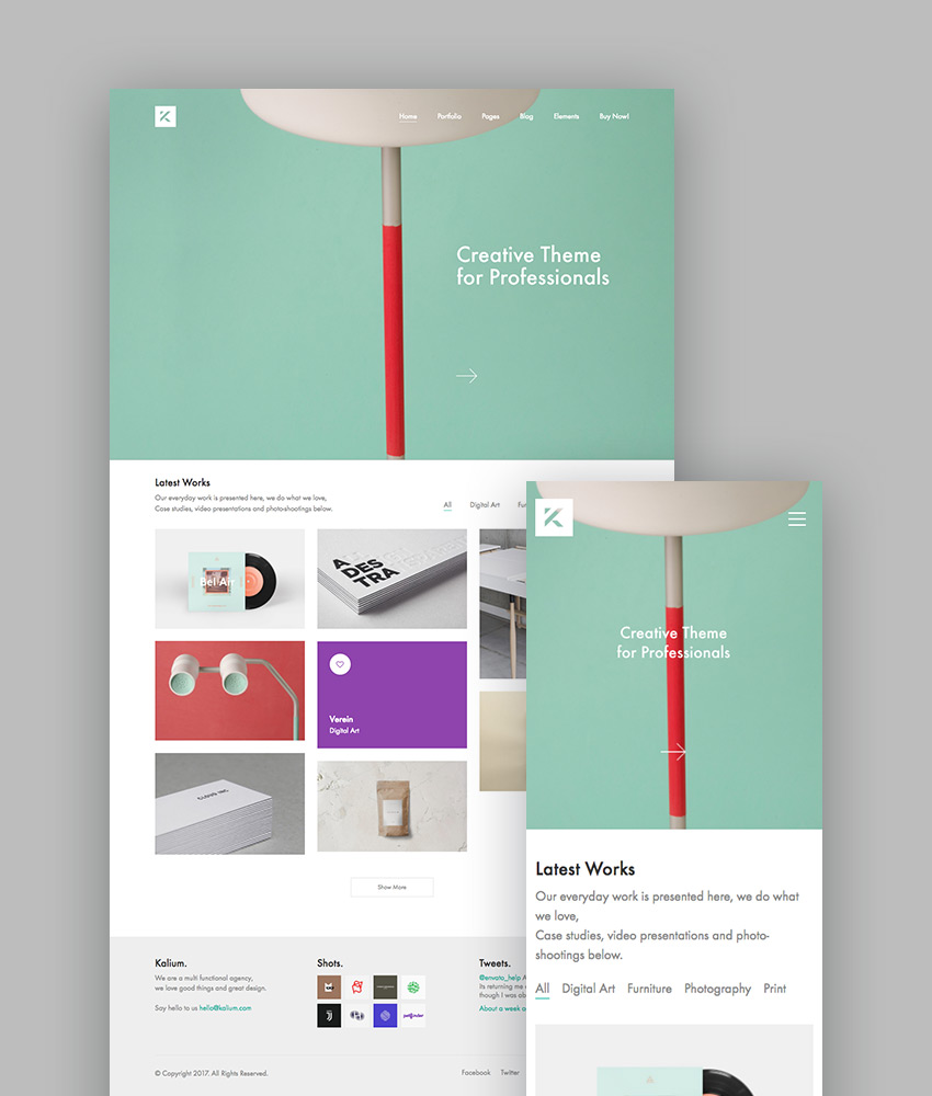 Kalium - Creative WP Theme for Professionals